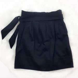 Soulmates Black Paper Bag Waist Skirt